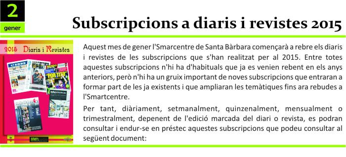 Subscripcions 2015